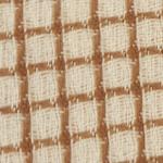Tissu fond blanc avec tissage de fils bordeaux en carreaux