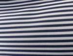 Tissu rayé bleu marine et blanc